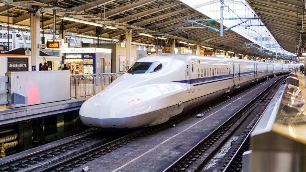 Shinkansen from Tokyo to Kyoto